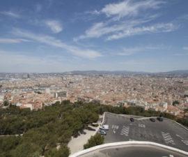 Marsilya manzarası, tepeden görünüm