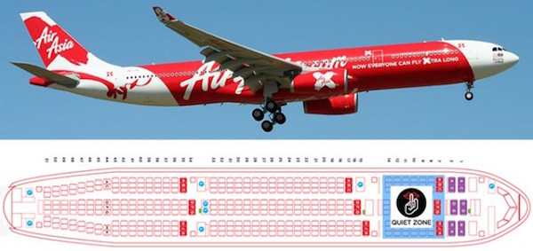 Quiet Zone Air Asia Silent Child-free