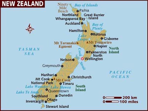 Yeni Zelanda Haritası Auckland