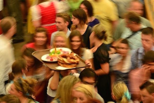 Oktoberfest bira festivali Münih Bavyera